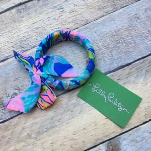 New Lilly Pulitzer fabric bangle bracelet GWP